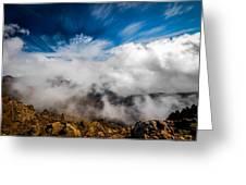 Clouds In Haleakala Greeting Card