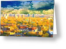 Clouds In The City Greeting Card