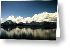Clouds In The Grand Tetons Greeting Card