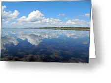 Clouds In The Lake Greeting Card