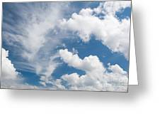 White Cirrus And Cumulus Clouds Formation Mix Greeting Card