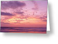 Clouds In The Sky At Sunset, Pacific Greeting Card