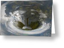 Clouds In Whirlpool Greeting Card