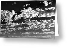 Clouds Of Freycinet Bw Greeting Card