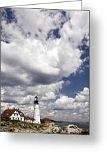 Clouds Of Glory - Portland Headlight Greeting Card