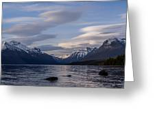 Clouds On The Lake Greeting Card