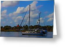 Clouds On The Water Greeting Card