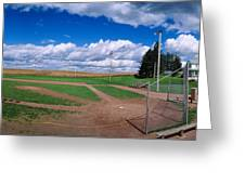 Clouds Over A Baseball Field, Field Greeting Card