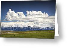 Clouds Over A Mountain Range In Montana Greeting Card
