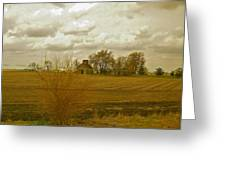 Clouds Over An Illinois Farm Greeting Card