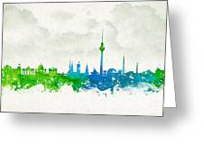 Clouds Over Berlin Germany Greeting Card by Aged Pixel