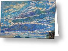 Clouds Over Buffalo Mountain Greeting Card