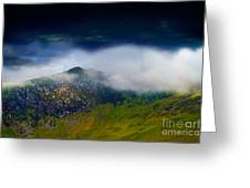 Clouds Over Bull Crag And Maiden Moor Greeting Card