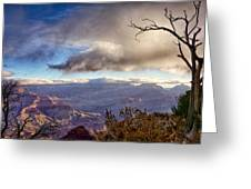 Clouds Over Canyon Greeting Card