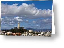 Clouds Over Coit Tower Greeting Card