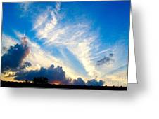 Clouds Over Comfort Greeting Card