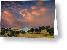 Clouds Over East Bay Hills Greeting Card