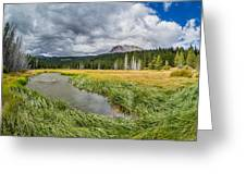 Clouds Over Hat Lake Greeting Card