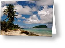 Clouds Over Island Greeting Card