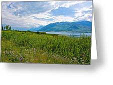Clouds Over Jackson Lake In Grand Teton National Park-wyoming Greeting Card