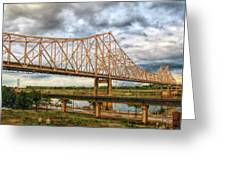 Clouds Over King Bridge Greeting Card