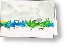 Clouds Over London England Greeting Card by Aged Pixel