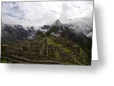 Clouds Over Machu Picchu Greeting Card