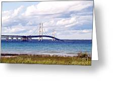 Clouds Over Mackinaw Greeting Card