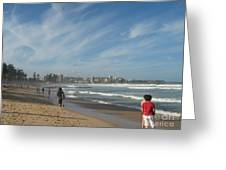 Clouds Over Manly Beach Greeting Card