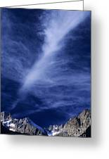 Clouds Over Middle Palisades Glacier California Greeting Card