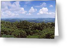 Clouds Over Mountains, Flores Island Greeting Card