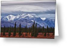 Clouds Over Mountains Greeting Card
