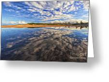 Clouds Over Narrabeen Lake Greeting Card