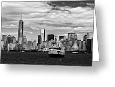 Clouds Over New York Greeting Card