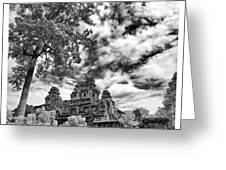 Clouds Over Temple In Siem Reap In Cambodia Greeting Card