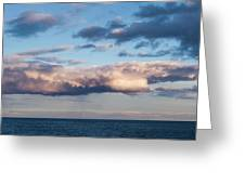 Clouds Over The Atlantic Ocean At Dusk Greeting Card