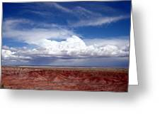Clouds Over The Badlands Greeting Card