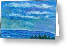 Clouds Over The Blue Ridge Greeting Card