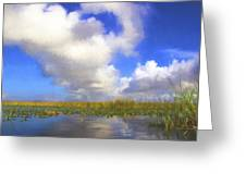 Clouds Over The Grasses Greeting Card