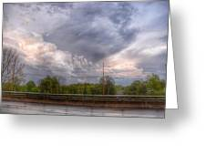 Clouds Over The Highway Greeting Card