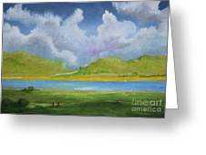 Clouds Over The Lake Greeting Card