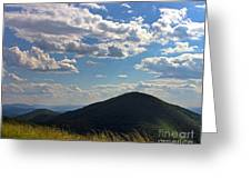 Clouds Over The Mountain Greeting Card