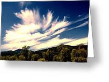 Clouds Over The Mountains Greeting Card