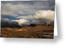 Clouds Over The Organ Mountains Greeting Card