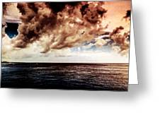 Clouds Over The Water Greeting Card
