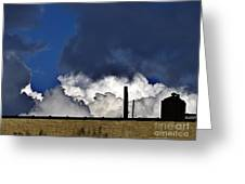 Clouds Over The Watertower Greeting Card