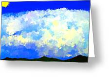 Clouds Overhead Greeting Card
