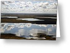 Clouds Reflected In Aleutian Lakes Greeting Card