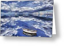 Clouds Reflection  Greeting Card