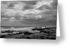 Clouds Rolling In Greeting Card by Diane Diederich